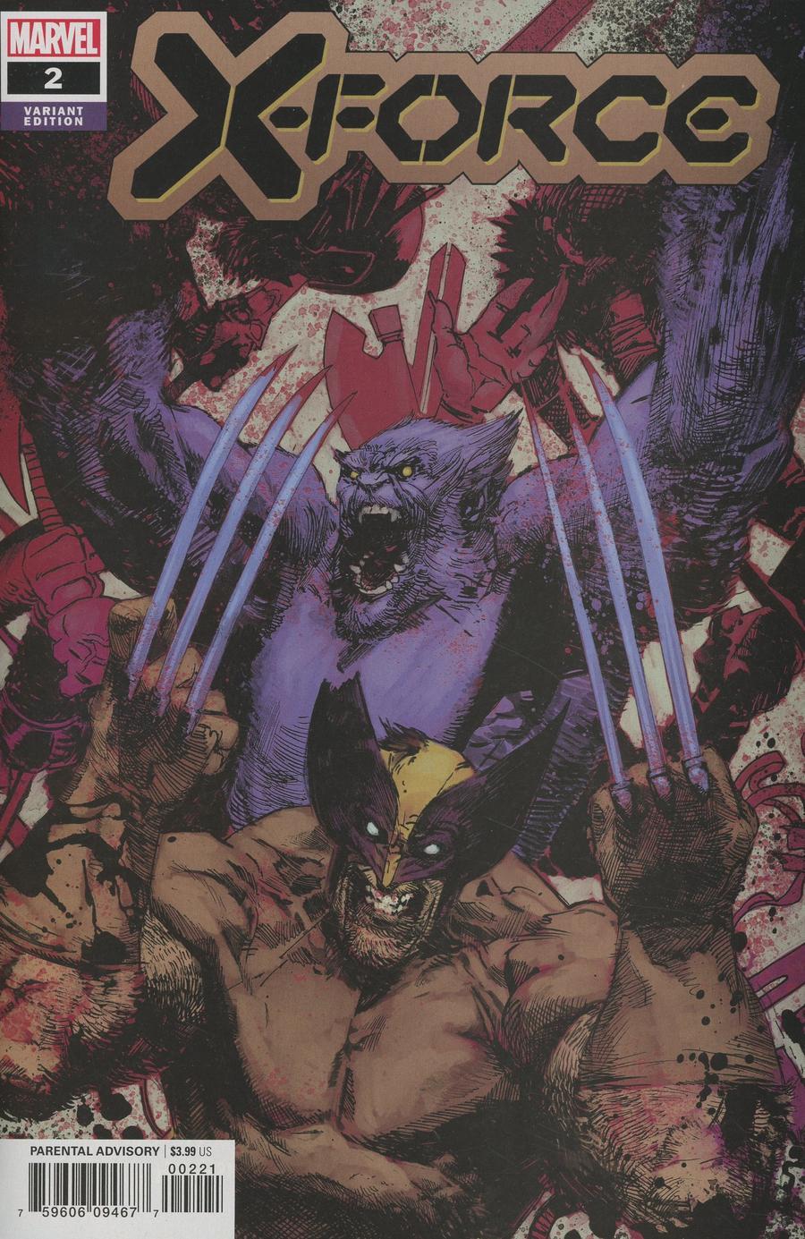 X-Force Vol 6 #2 Cover B Incentive Gerardo Zaffino Variant Cover (Dawn Of X Tie-In)