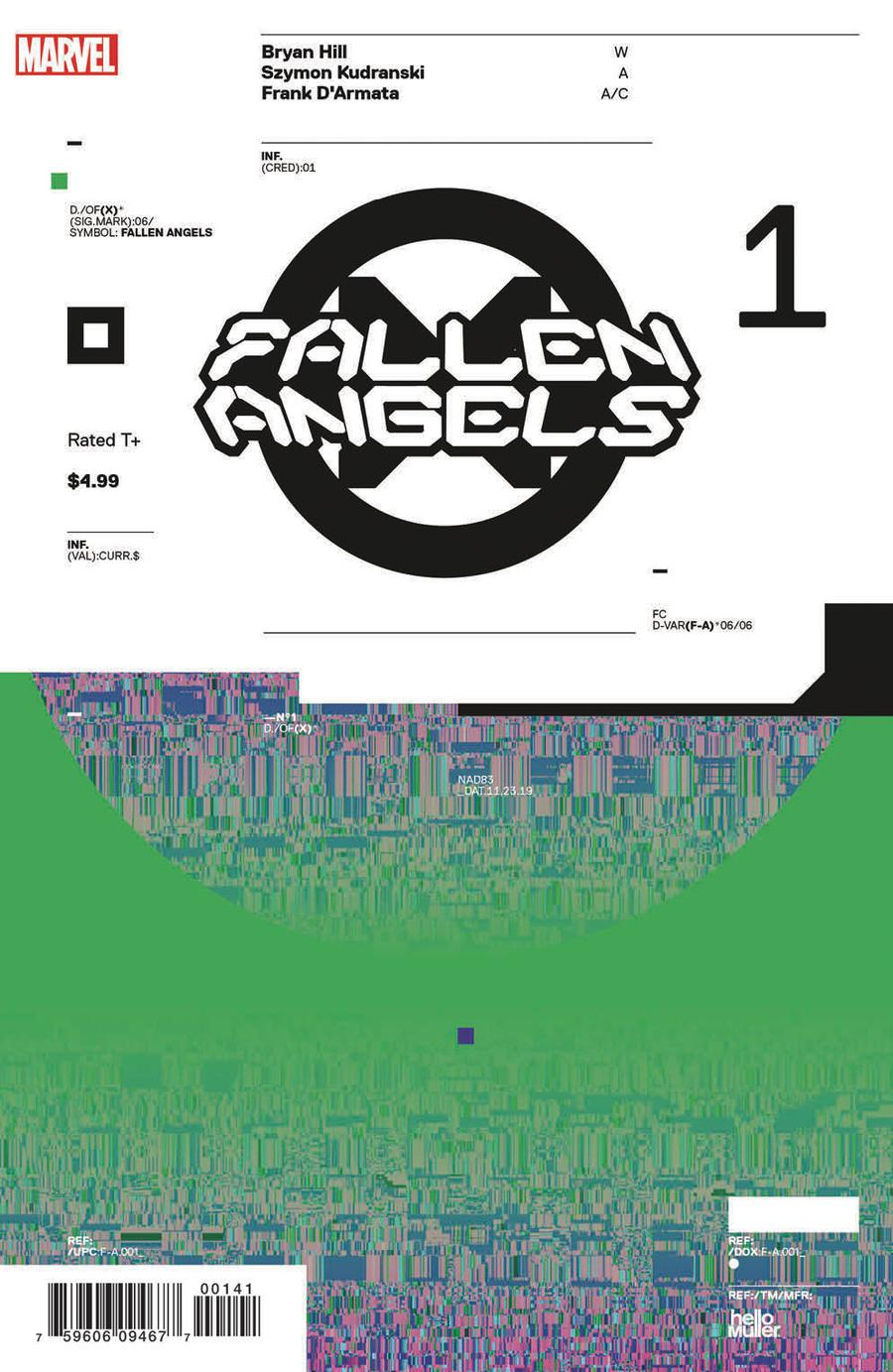 Fallen Angels Vol 2 #1 Cover D Incentive Tom Muller Design Variant Cover (Dawn Of X Tie-In)