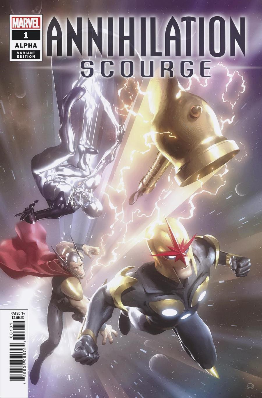 Annihilation Scourge Alpha #1 Cover D Incentive Alex Garner Variant Cover