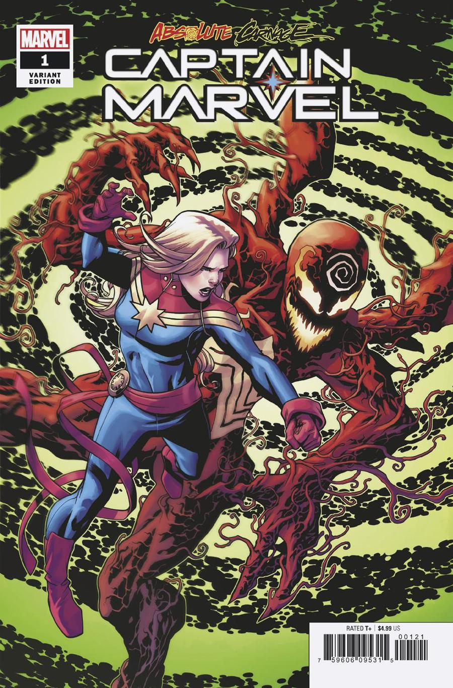 Absolute Carnage Captain Marvel #1 Cover C Incentive Mike McKone Variant Cover