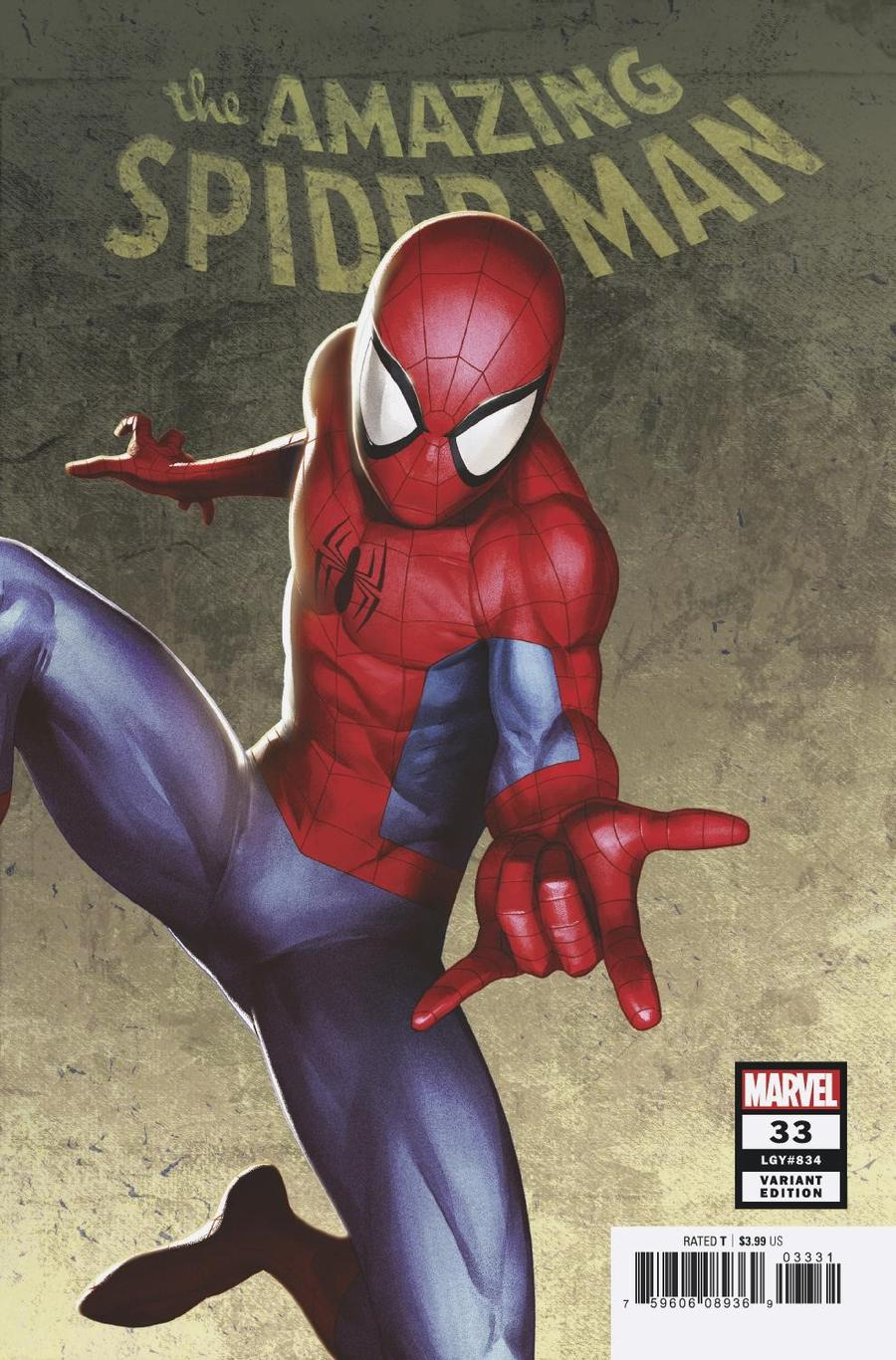 Amazing Spider-Man Vol 5 #33 Cover C Incentive Sami Basri Variant Cover (2099 Tie-In)