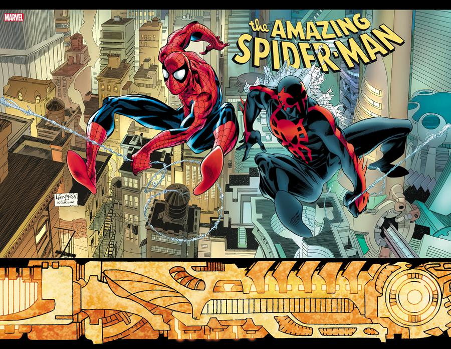 Amazing Spider-Man Vol 5 #33 Cover D Incentive Rick Leonardi Hidden Gem Wraparound Variant Cover (2099 Tie-In)