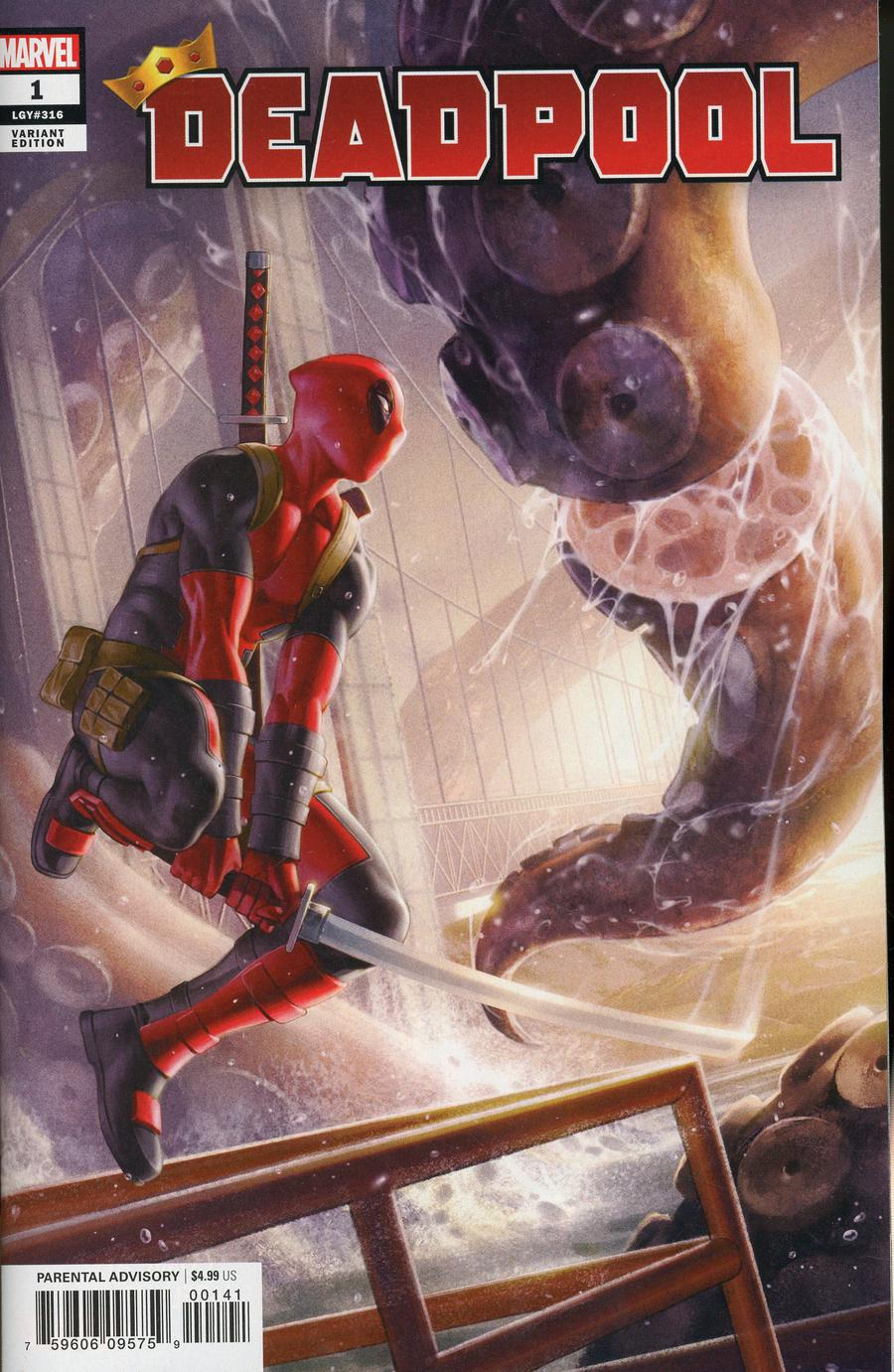 Deadpool Vol 7 #1 Cover H Incentive Junggeun Yoon Variant Cover