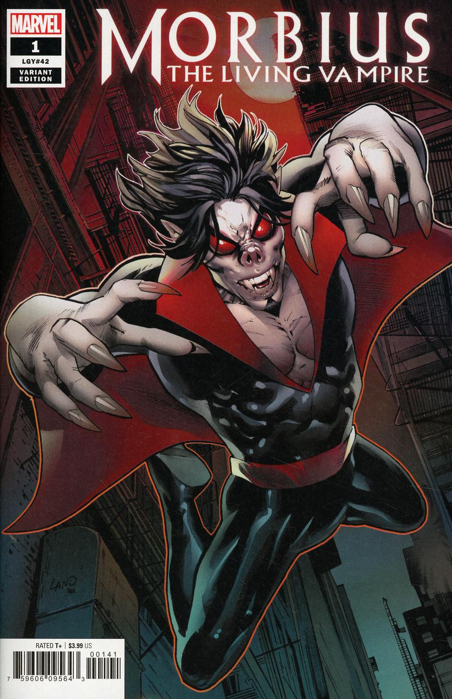Morbius #1 Cover D Incentive Greg Land Variant Cover
