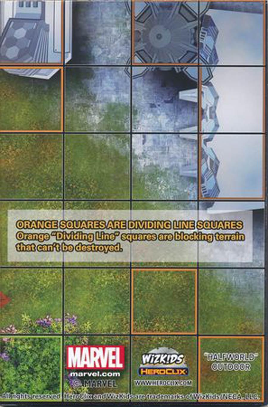 Marvel HeroClix Earth X Halfworld Outdoor / Galador Promenade Outdoor Double Sided Map