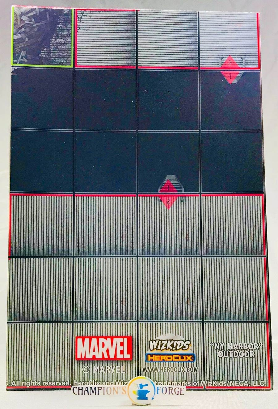 Marvel HeroClix Avengers Infinity NY Harbor Outdoor / Skull Camp Outdoor Double Sided Map