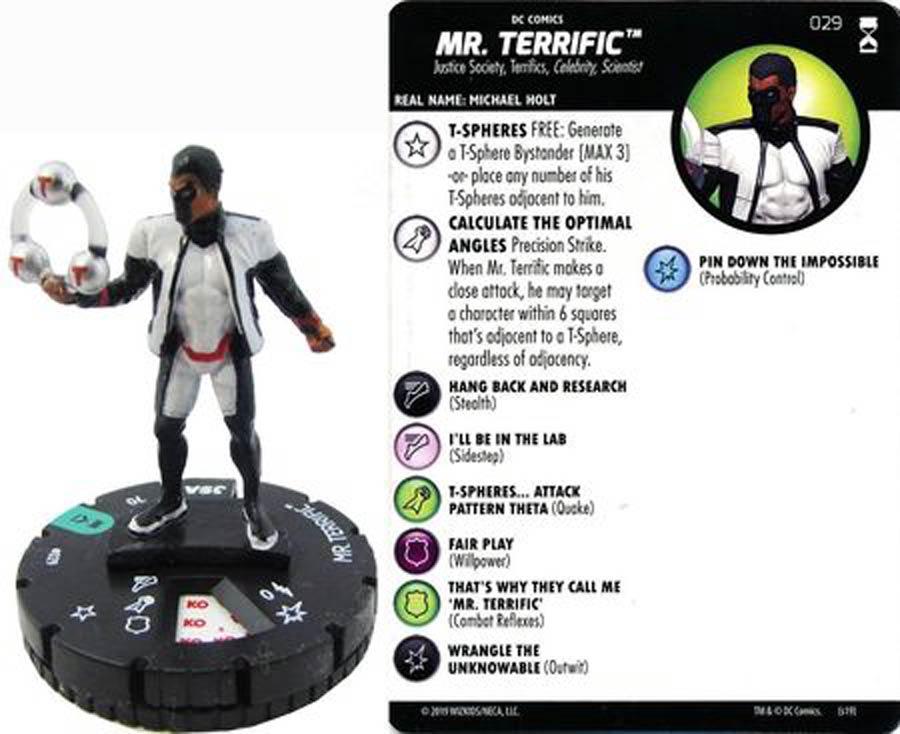 DC HeroClix Rebirth #100 Mr Terrific Mini Figure With Card