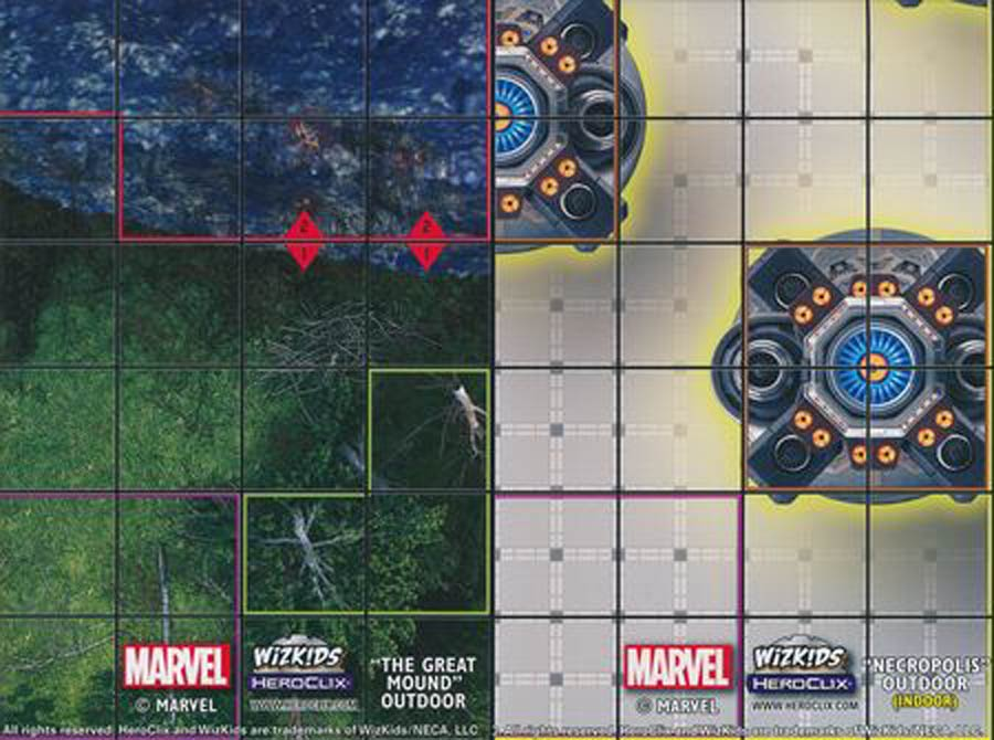 Marvel HeroClix Black Panther And The Illuminati The Great Mound Outdoor / Necropolis Outdoor Double Sided Map