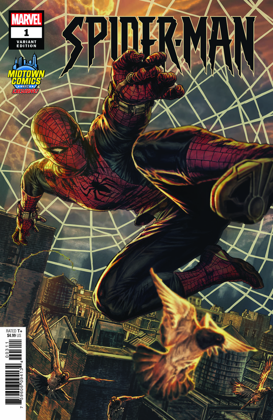 Spider-Man Vol 3 #1  Midtown Exclusive Lee Bermejo Variant Cover