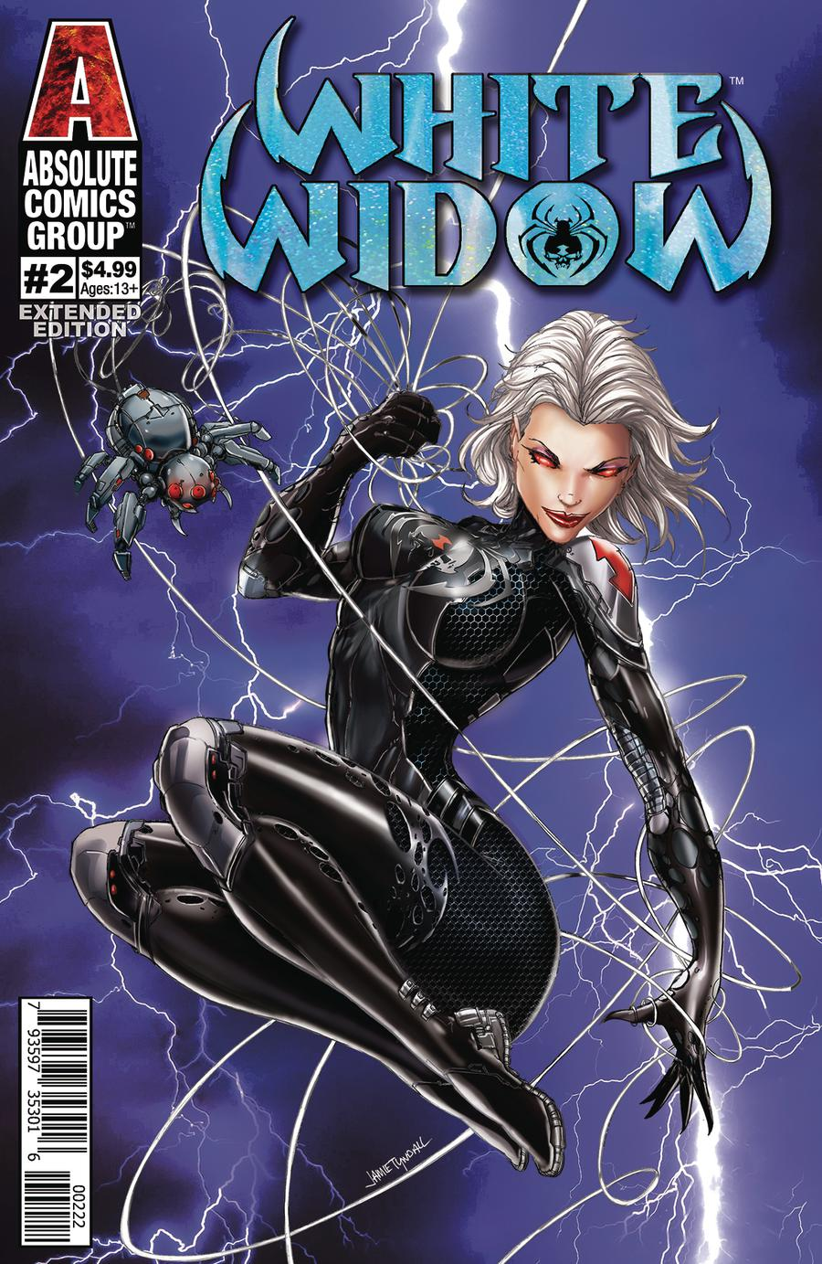 White Widow #2 Cover E 2nd Ptg Variant Gold Holographic Foil Logo Cover