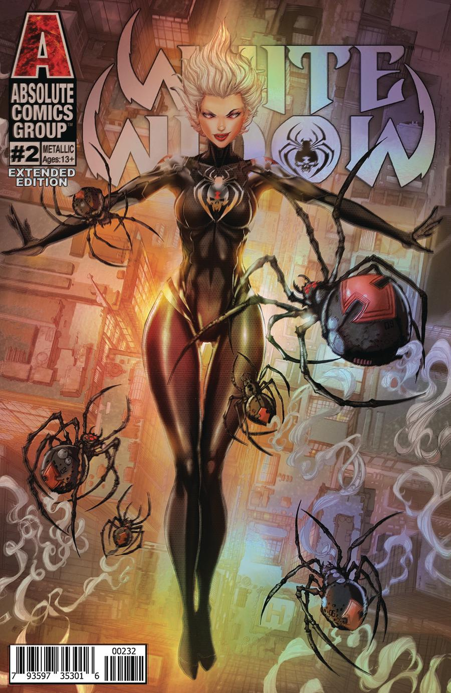 White Widow #2 Cover F 2nd Ptg Variant Holographic Metallic Ink Cover