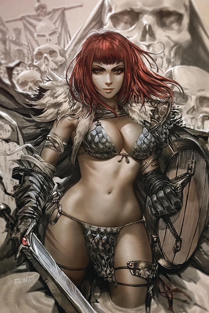 Vampirella Red Sonja #1 Cover K Incentive Derrick Chew Virgin Cover