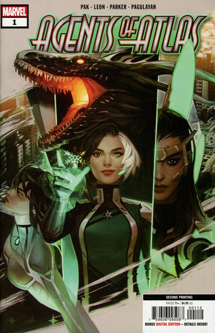 Agents Of Atlas Vol 3 #1 Cover G 2nd Ptg Variant Valentina Remenar New Art Cover
