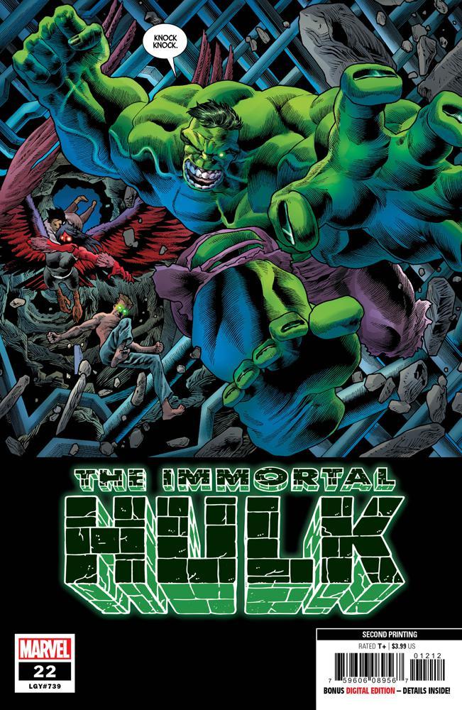 Immortal Hulk #22 Cover C 2nd Ptg Variant Joe Bennett Cover