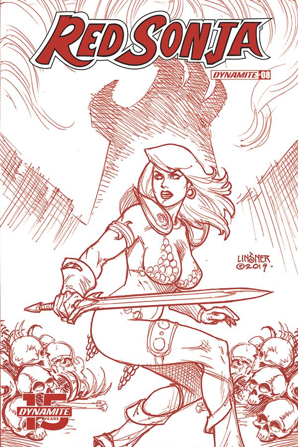 Red Sonja Vol 8 #8 Cover L Incentive Joseph Michael Linsner Tint With Trade Dress Cover