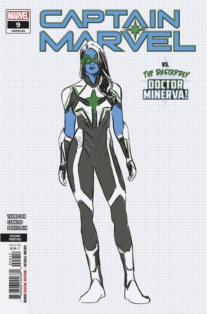 Captain Marvel Vol 9 #9 Cover D 2nd Ptg Variant Carmen Nunez Carnero Cover