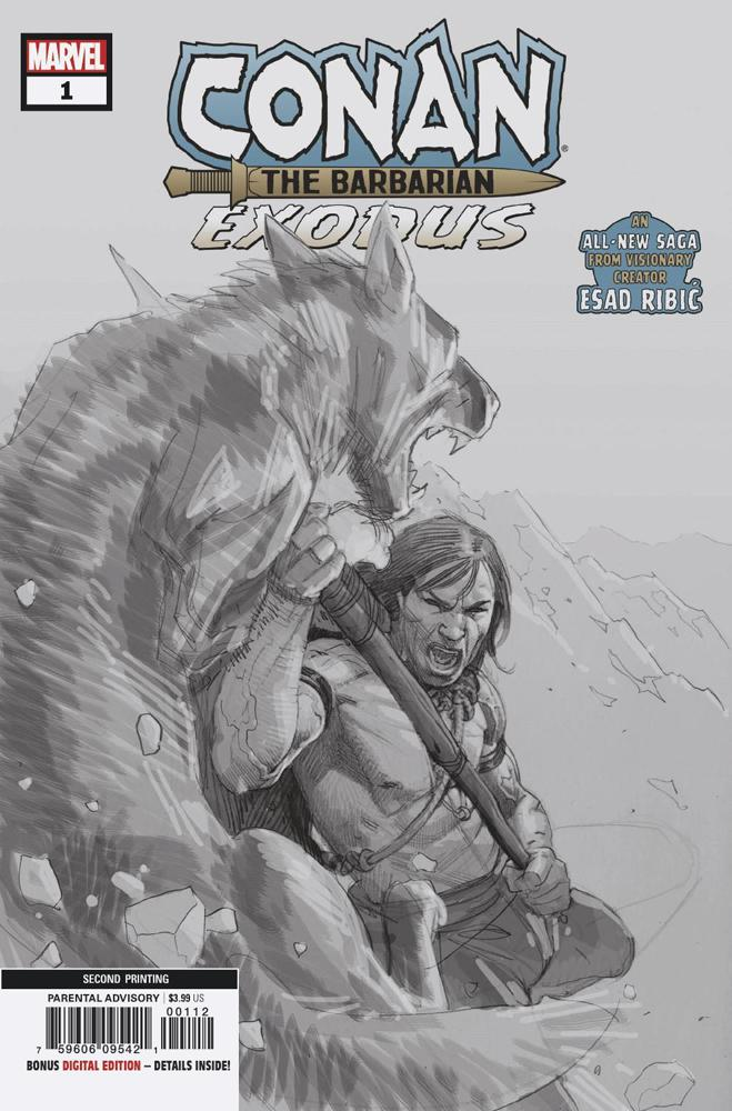 Conan The Barbarian Exodus #1 Cover D 2nd Ptg Variant Esad Ribic Cover