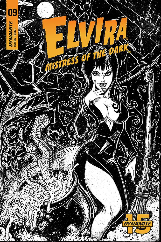 Elvira Mistress Of The Dark Vol 2 #9 Cover G Incentive Kevin Eastman Black & White Cover