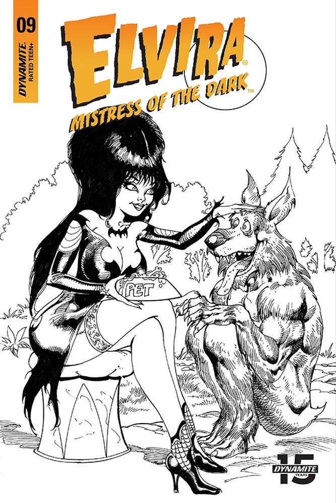 Elvira Mistress Of The Dark Vol 2 #9 Cover H Incentive Roberto Castro Black & White Cover