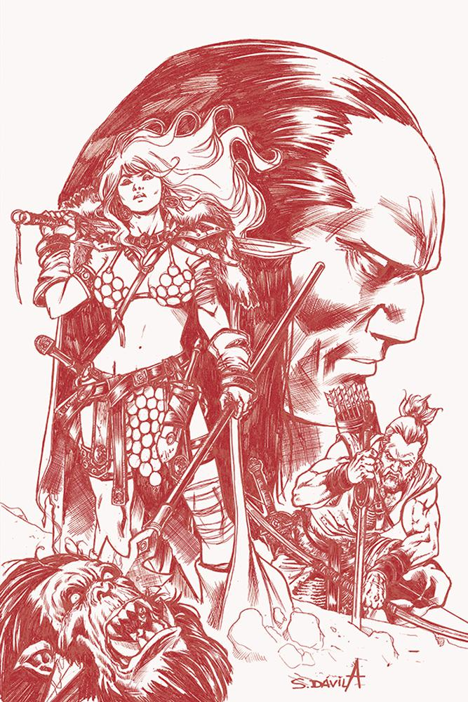 Red Sonja Birth Of The She-Devil #4 Cover G Incentive Sergio Davila Black & White Tint Cover