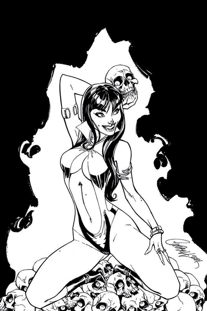 Vampirella Vol 8 #3 Cover K Incentive J Scott Campbell Black & White Virgin Cover