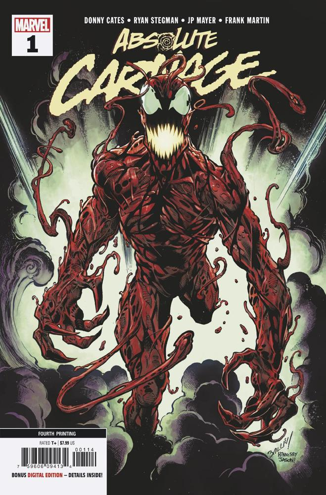 Absolute Carnage #1 Cover X 4th Ptg Variant Mark Bagley New Art Cover