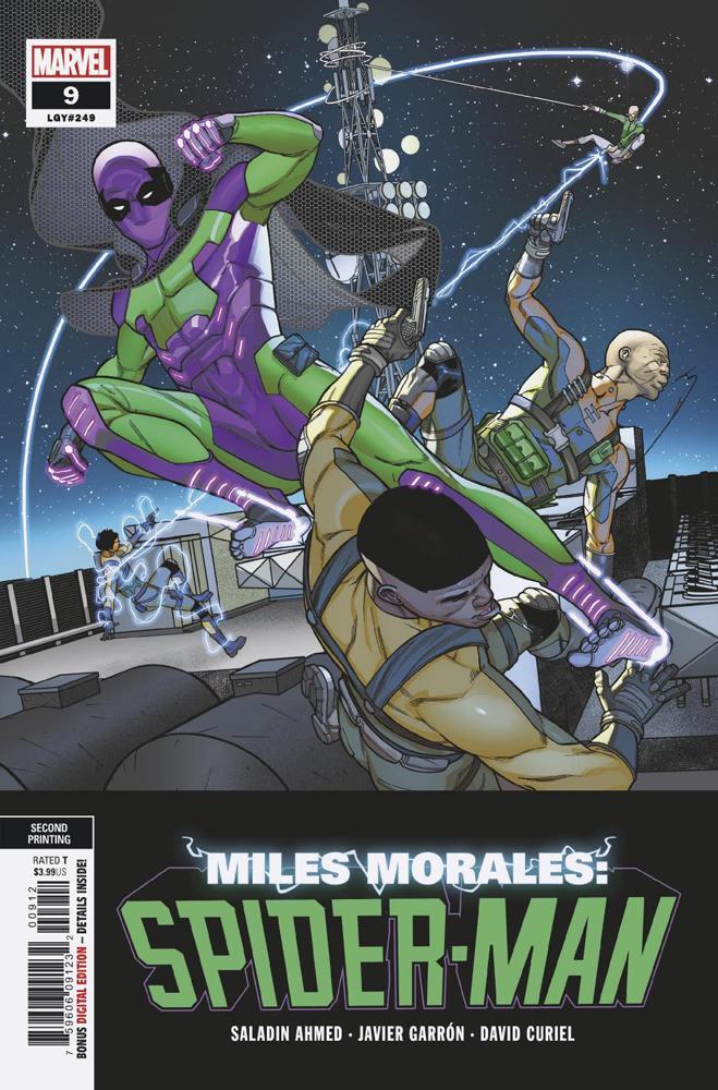 Miles Morales Spider-Man #9 Cover C 2nd Ptg Variant Javi Garron Cover