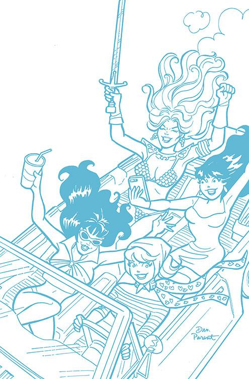 Red Sonja And Vampirella Meet Betty And Veronica #5 Cover G Incentive Dan Parent Tint Virgin Cover