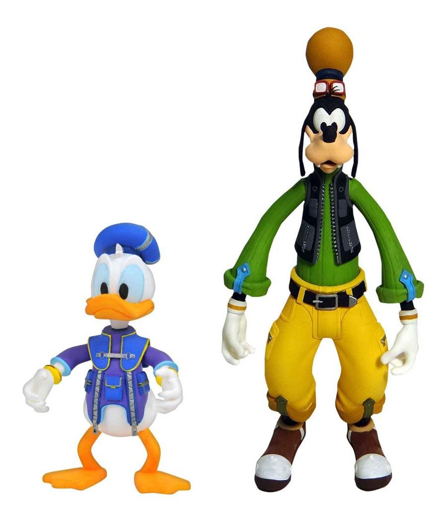 Kingdom Hearts III Select Goofy & Donald Action Figure