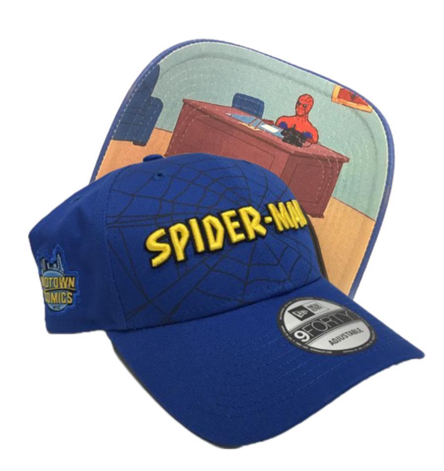 Midtown Comics Exclusive Spider-Man 67 Logo Meme Blue 940 Velcro Strap Cap
