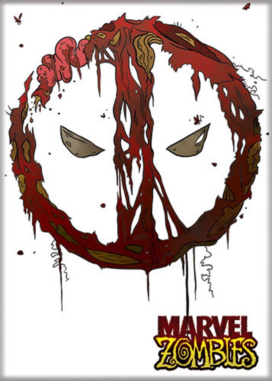 Marvel Zombies 2.5x3.5-inch Magnet Deadpool Logo (73447MV)