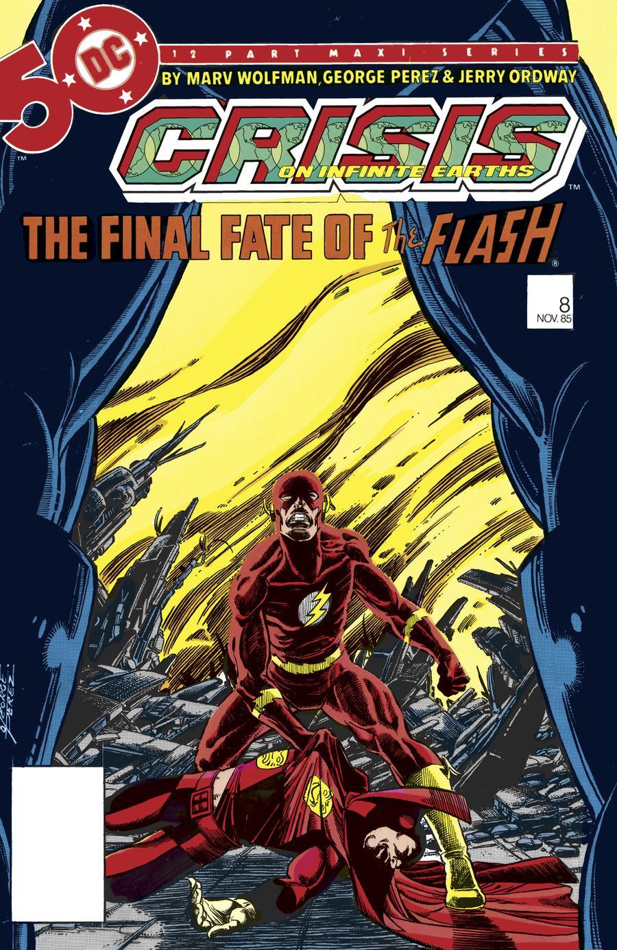 Crisis On Infinite Earths #8 Cover B Facsimile Edition
