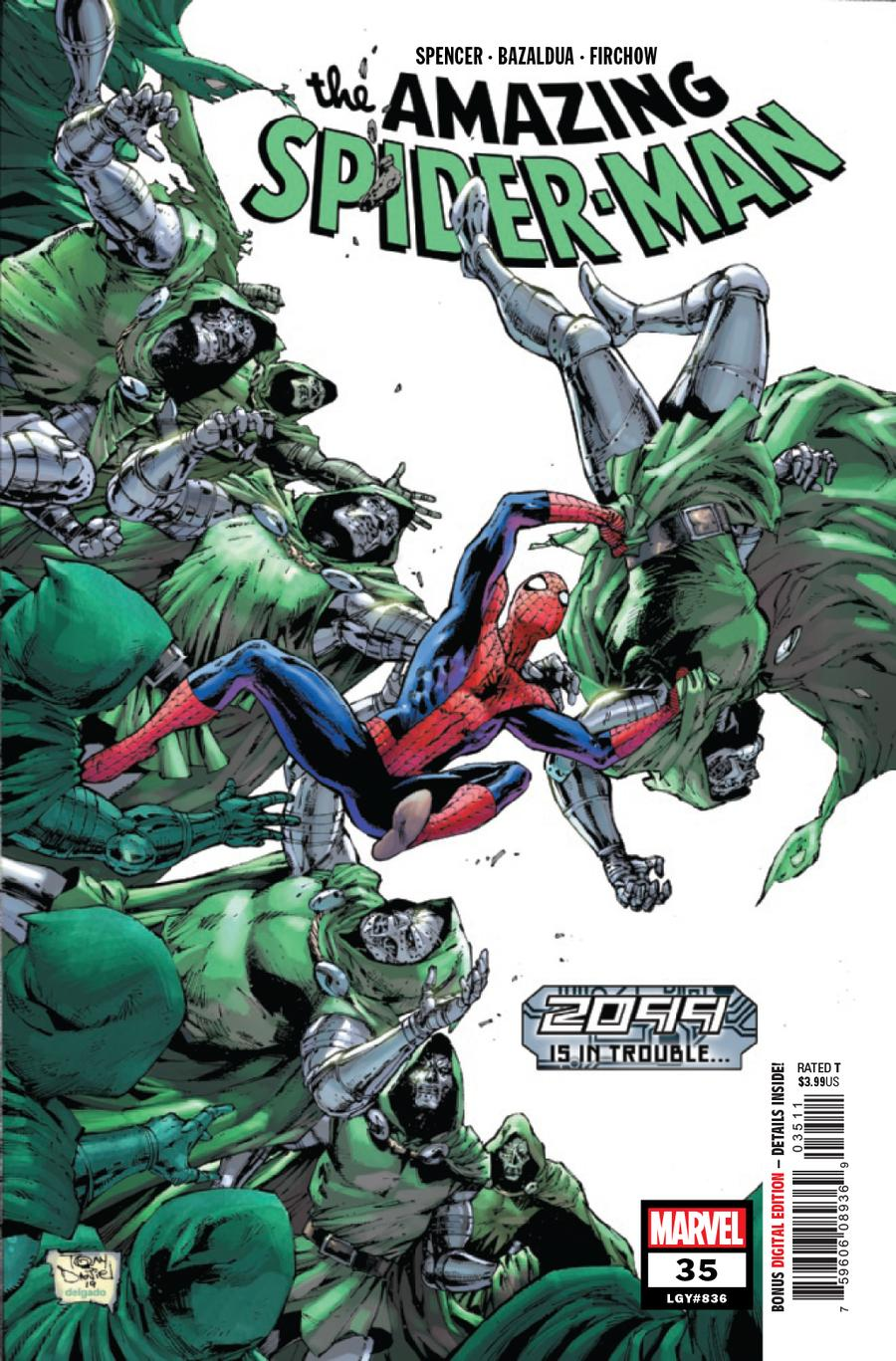 Amazing Spider-Man Vol 5 #35 Cover A Regular Tony Daniel Cover (2099 Tie-In)