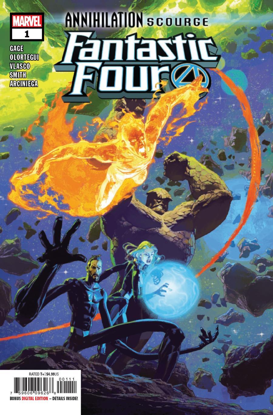 Annihilation Scourge Fantastic Four #1 Cover A Regular Josemaria Casanovas Cover