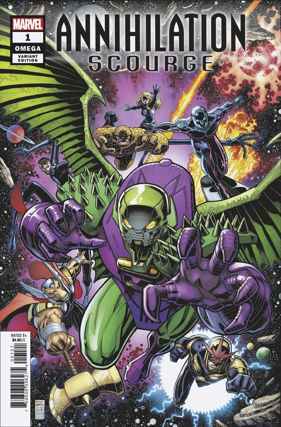 Annihilation Scourge Omega #1 Cover B Variant Arthur Adams Cover