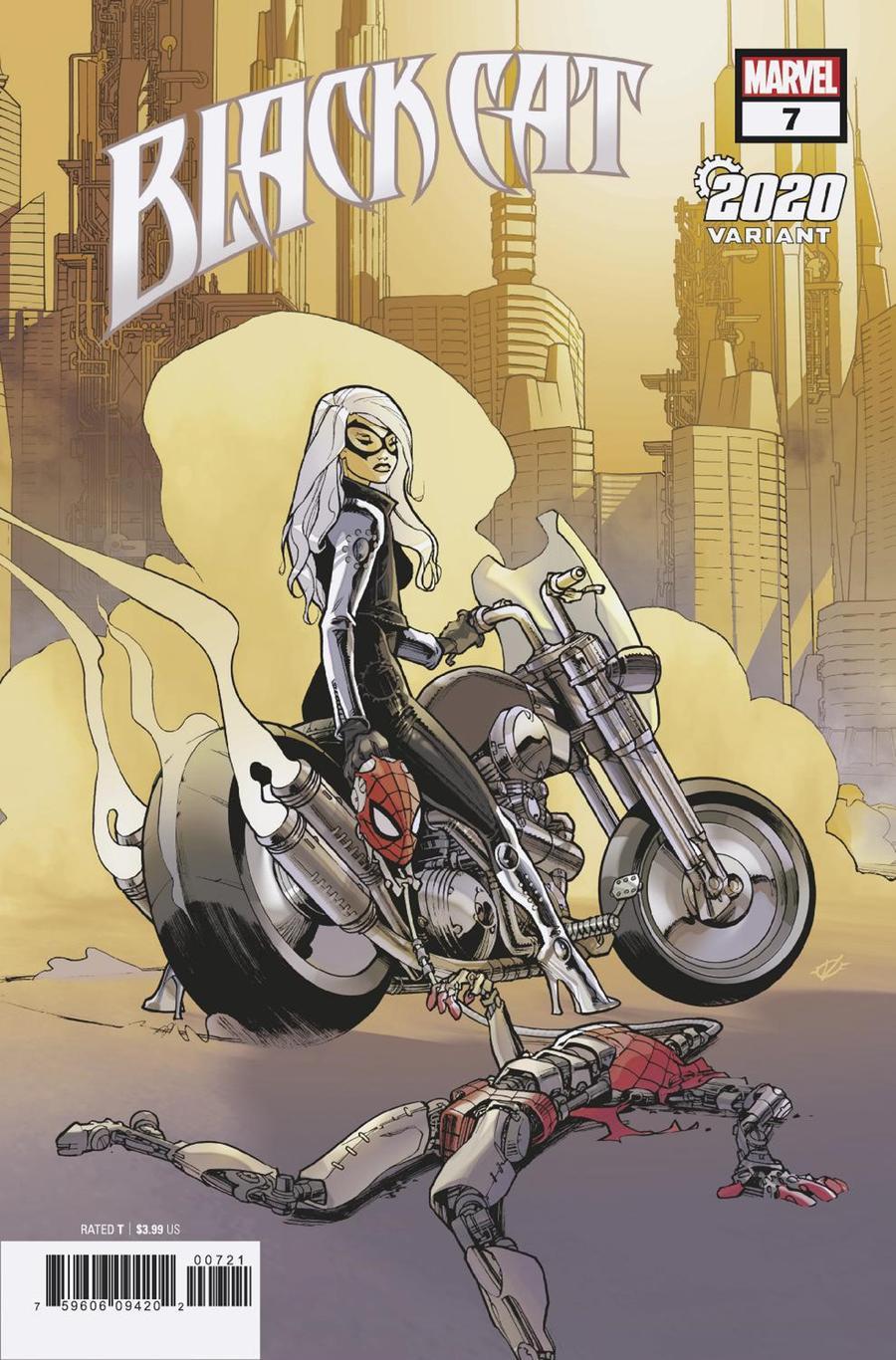 Black Cat #7 Cover B Variant Olivier Vatine 2020 Cover