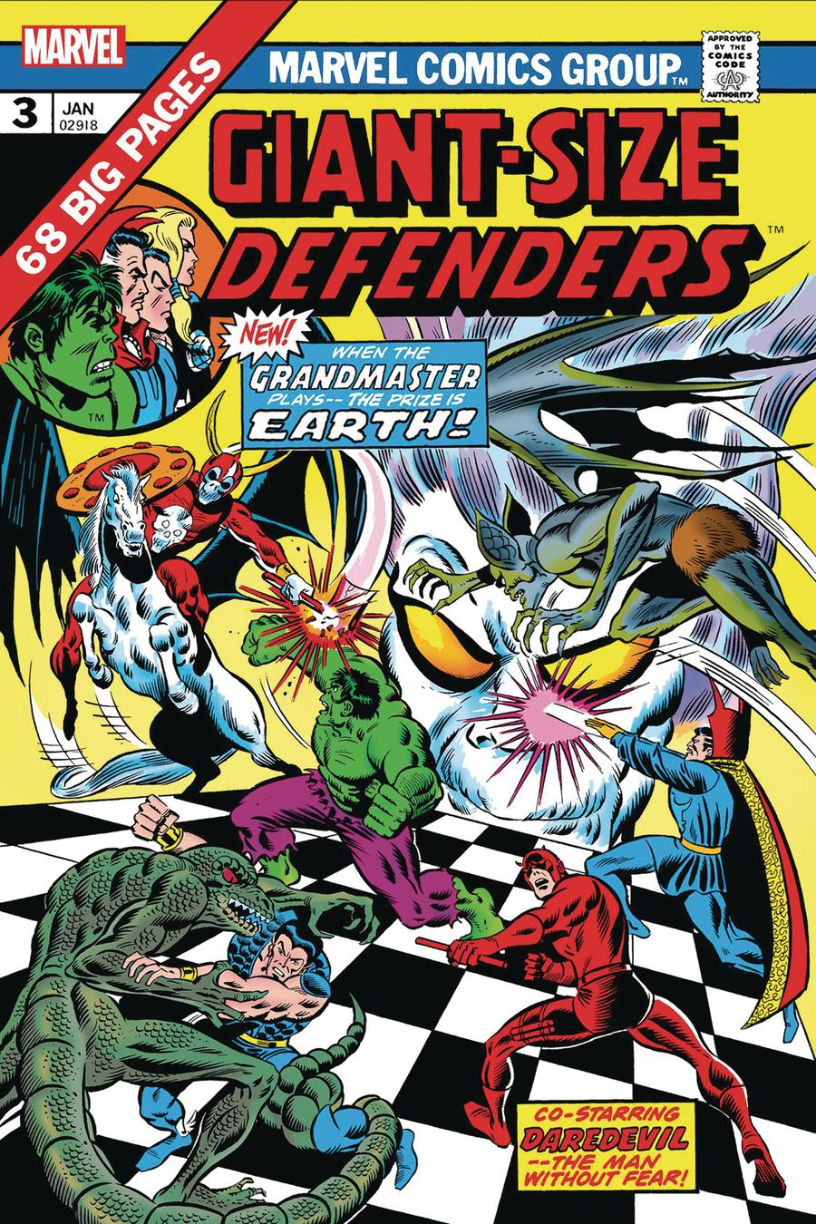Giant-Size Defenders #3 Cover B Facsimile Edition