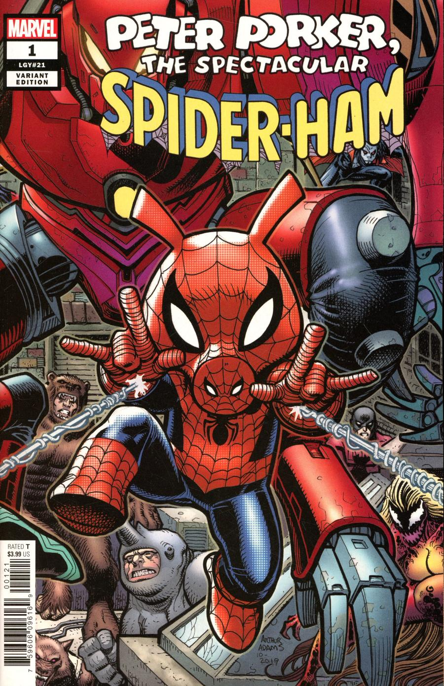 Spider-Ham #1 Cover B Variant Arthur Adams 8-Part Connecting Cover