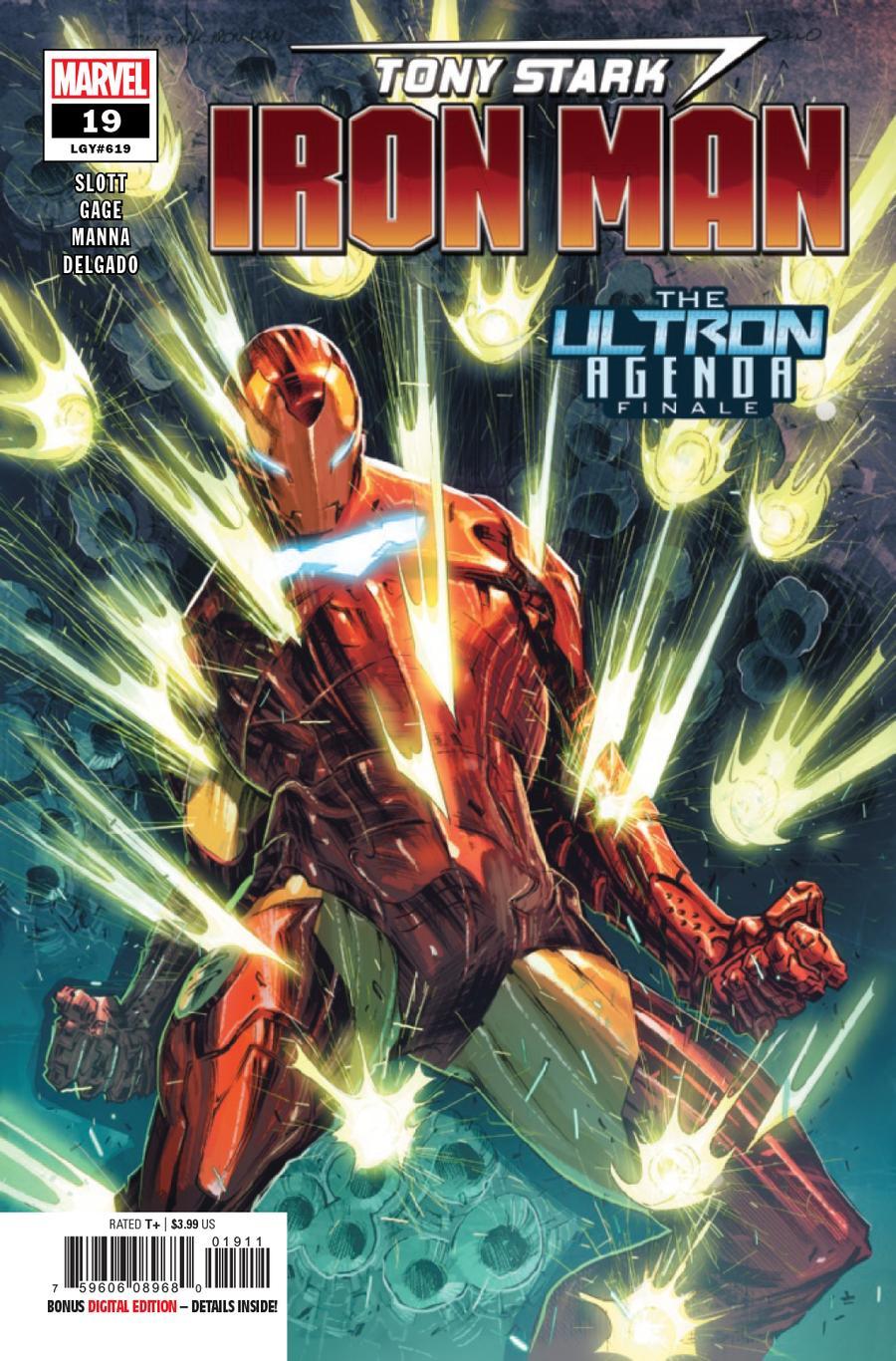 Tony Stark Iron Man #19 Cover A 1st Ptg Regular Alexander Lozano Cover