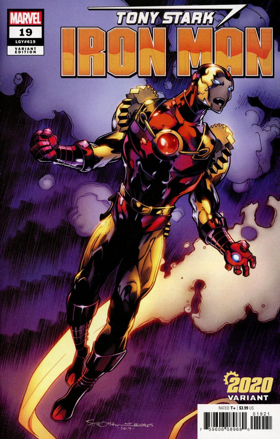 Tony Stark Iron Man #19 Cover B Variant Larry Stroman 2020 Cover