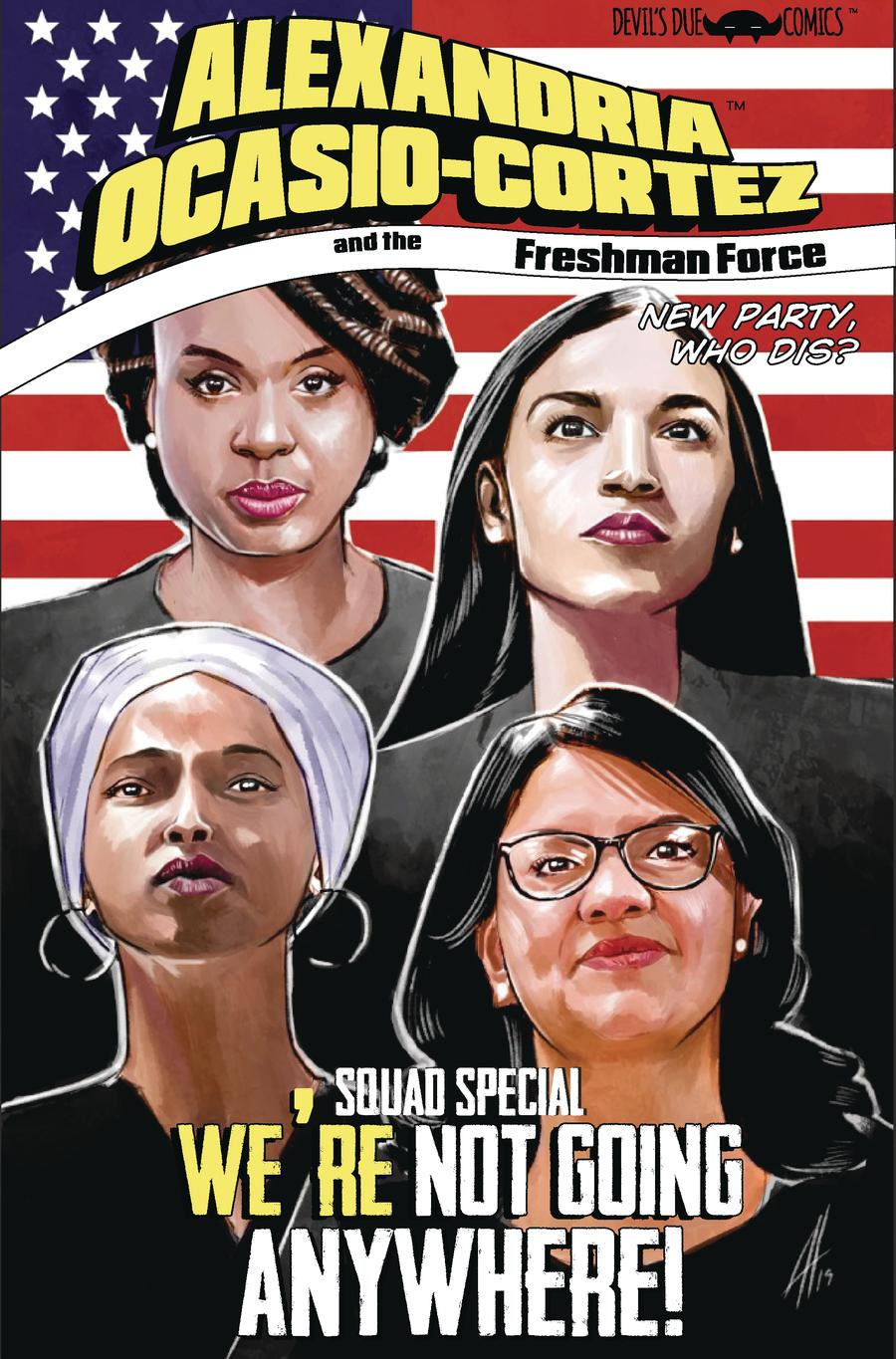 Alexandria Ocasio-Cortez And The Freshman Force Squad #1 Cover A 1st Ptg Regular Joel Humberto Herrera Cover