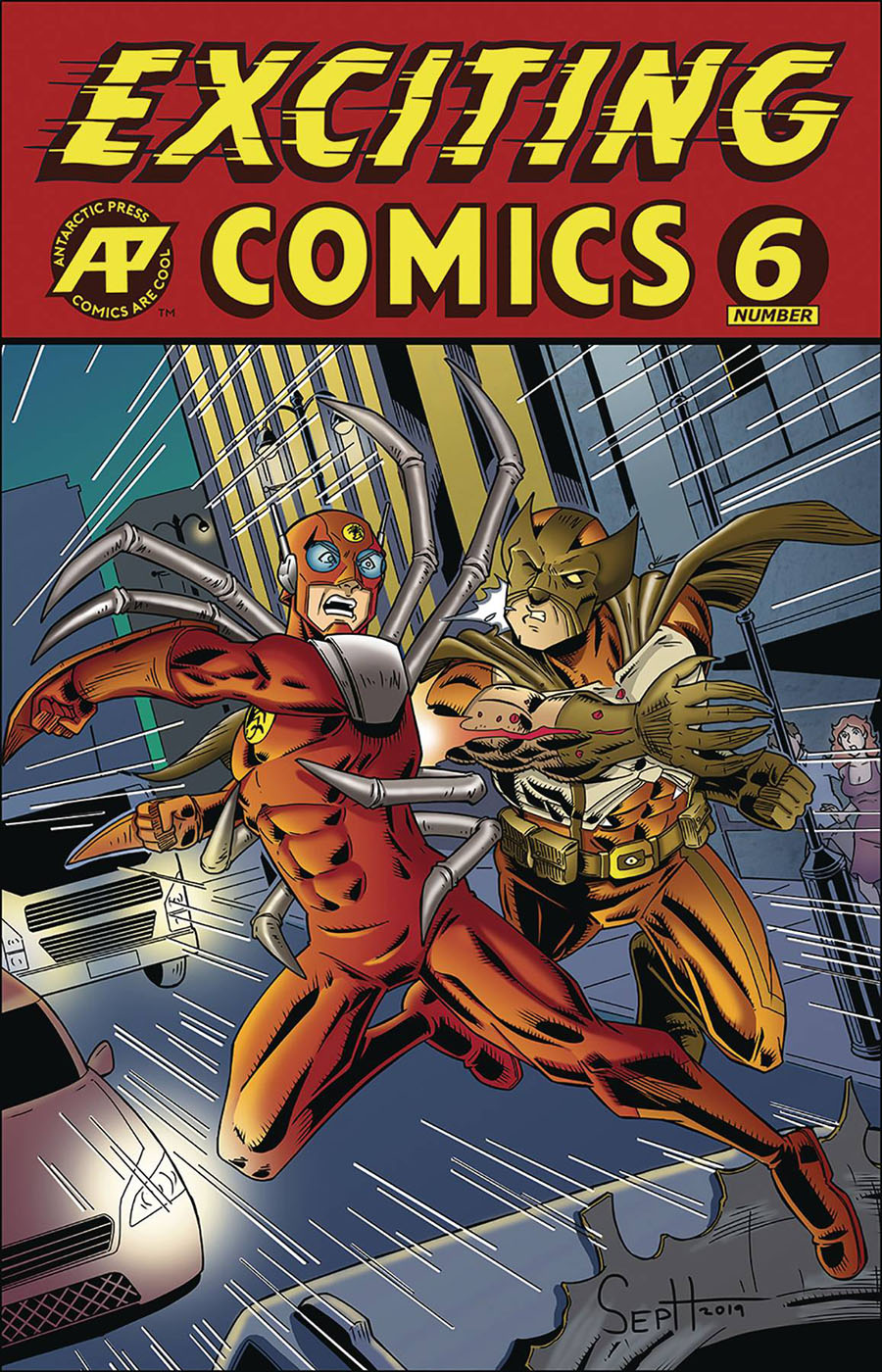 Exciting Comics Vol 2 #6 Cover A Regular Joseph Olesco Cover