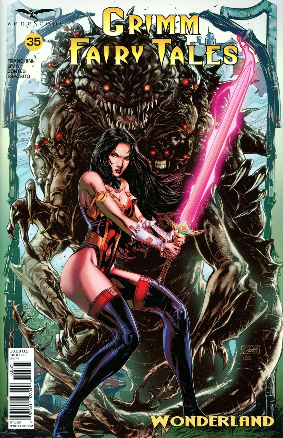 Grimm Fairy Tales Vol 2 #35 Cover B Caanan White
