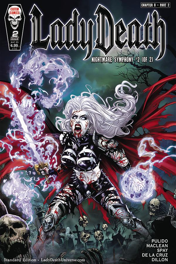 Lady Death Nightmare Symphony #2 Cover A Regular Mike Krome Cover
