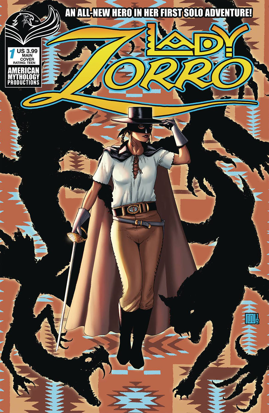 Lady Zorro Vol 2 #1 Cover A Regular Mike Wolfer Cover