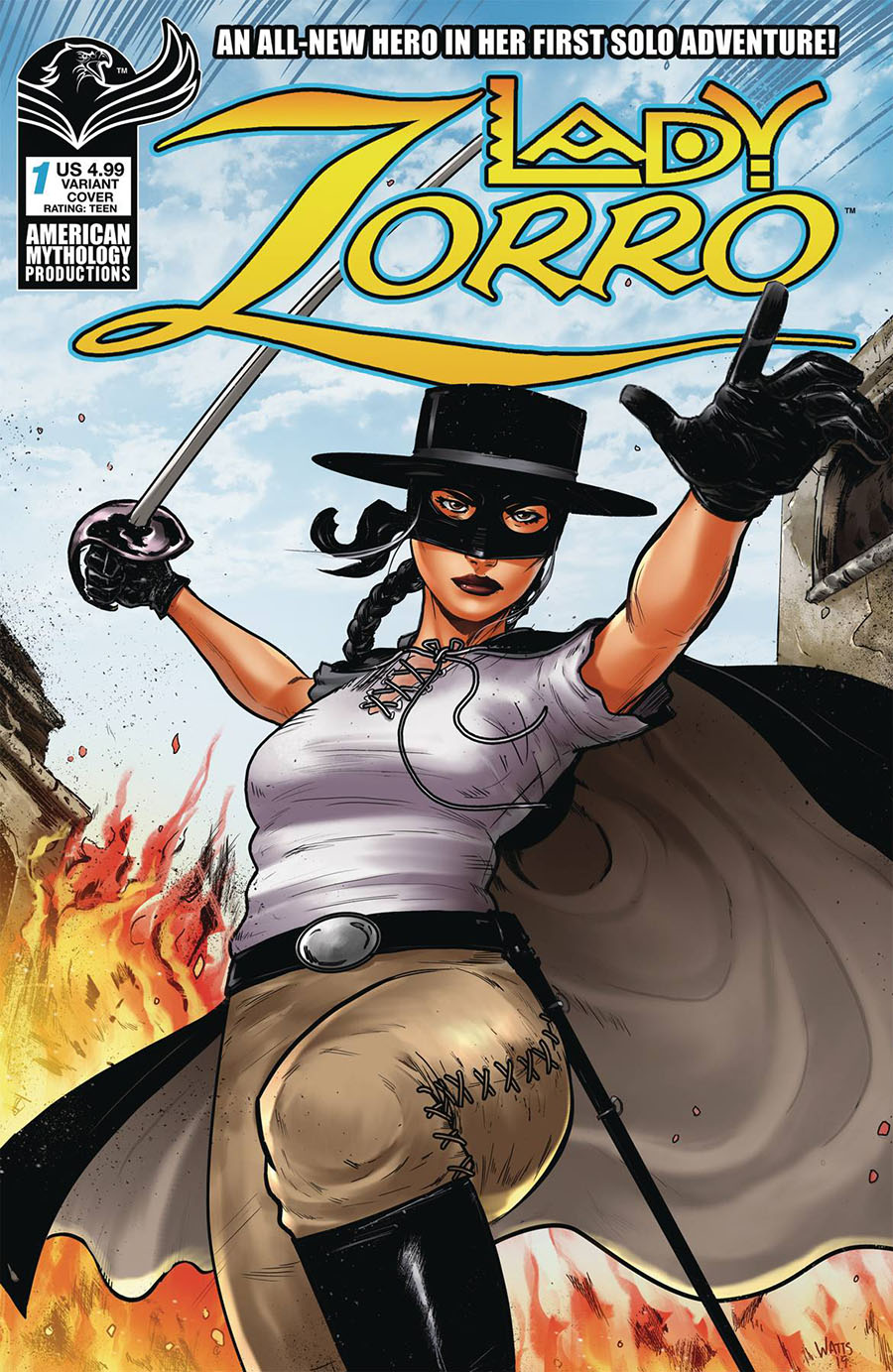 Lady Zorro Vol 2 #1 Cover B Variant Larry Watts Swashbuckling Cover