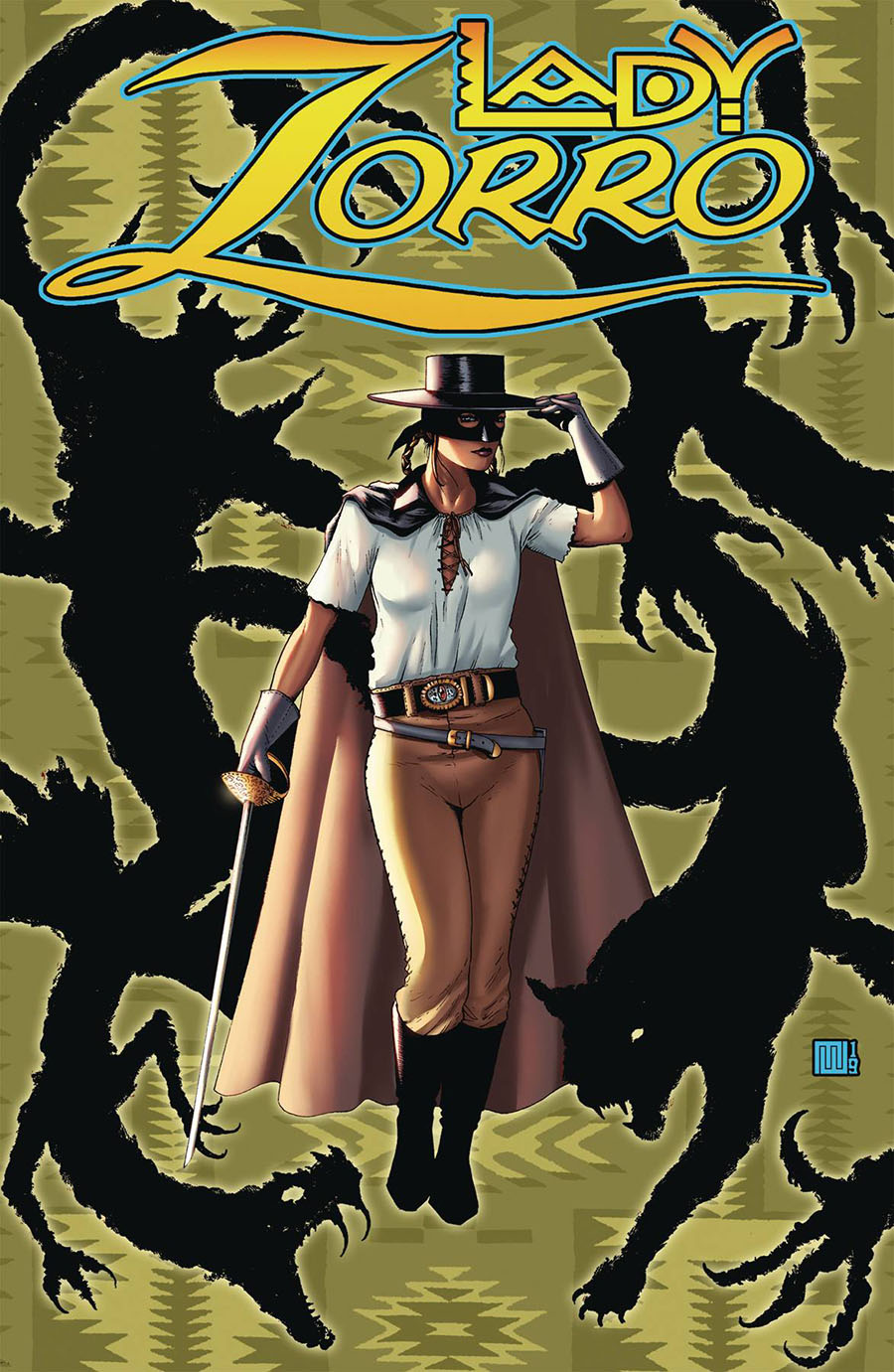 Lady Zorro Vol 2 #1 Cover C Limited Edition Mike Wolfer Pulp Cover