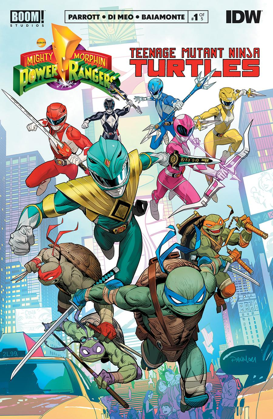 Mighty Morphin Power Rangers Teenage Mutant Ninja Turtles #1 Cover A 1st Ptg Regular Dan Mora Cover