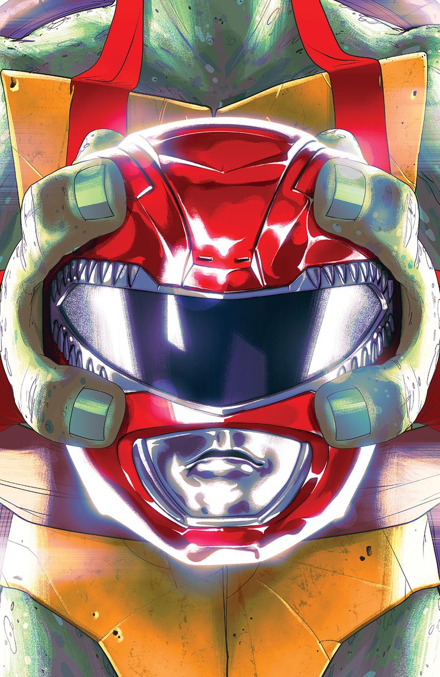Mighty Morphin Power Rangers Teenage Mutant Ninja Turtles #1 Cover B Variant Goni Montes Cover