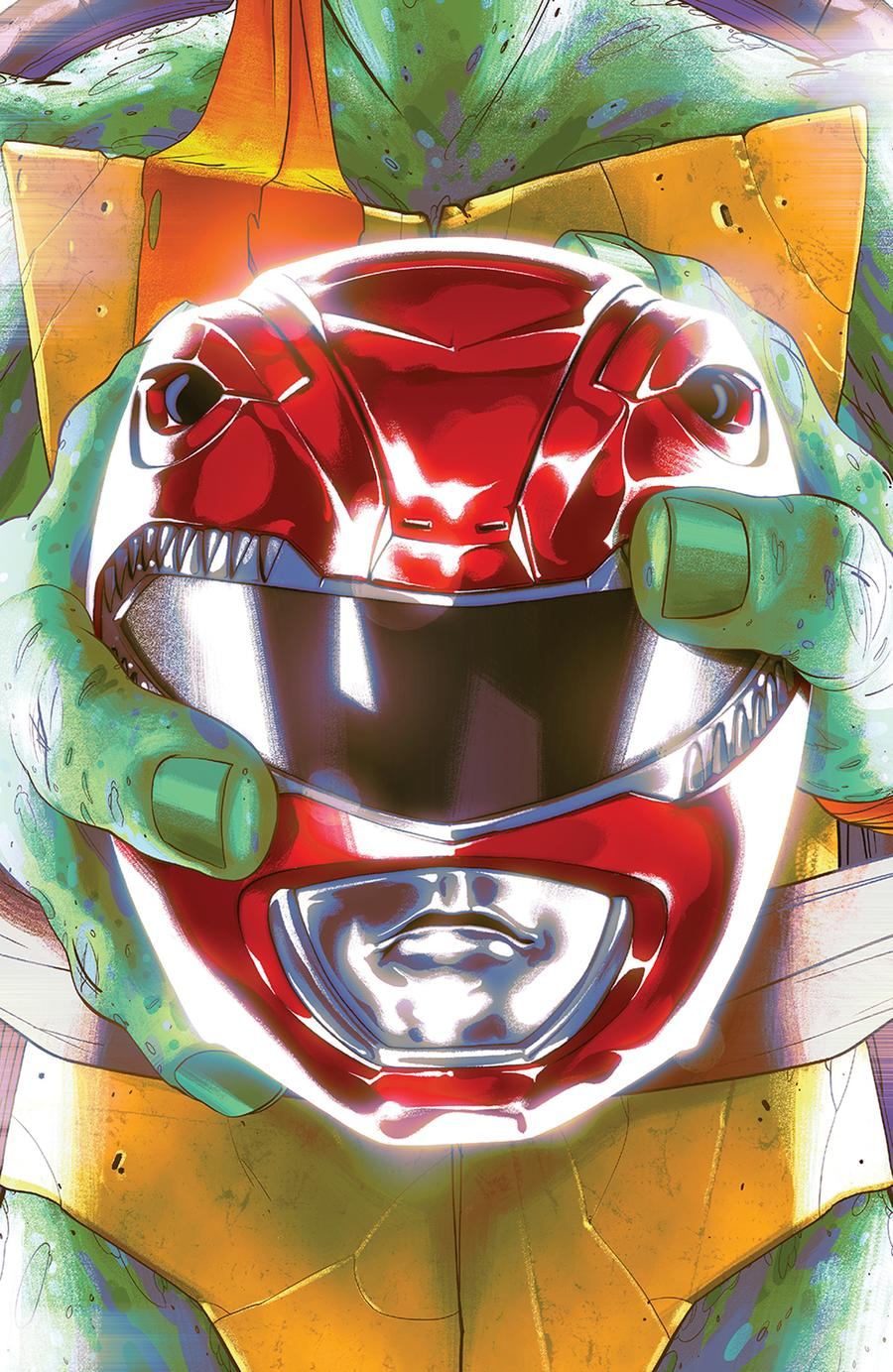 Mighty Morphin Power Rangers Teenage Mutant Ninja Turtles #1 Cover C Variant Goni Montes Cover